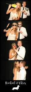 black photo booth strip with black background