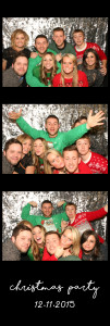 black photo booth strip with silver background