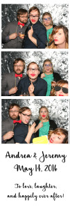 white photo booth strip with silver background